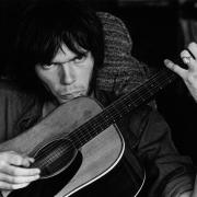Neil Young at Stephen Stills' House, in Studio City CA,1970. (Courtesy of Graham Nash)